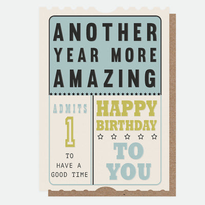 year-more-amazing-ticket-birthday-card-jst002-Single Cards-1