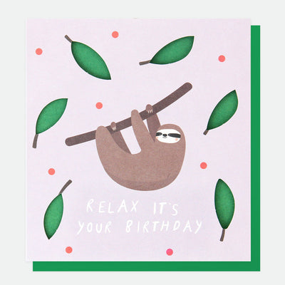 cut-out-relaxed-sloth-birthday-card-cut015-Single Cards-1