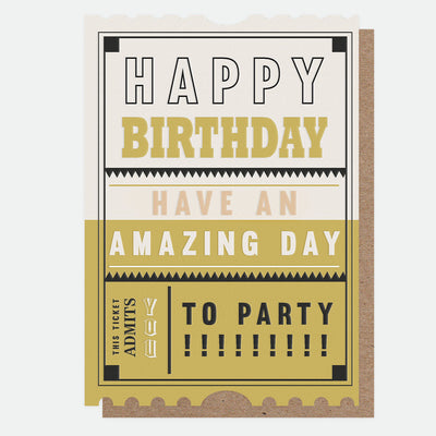 admission-to-the-party-ticket-birthday-card-jst009-Single Cards-1