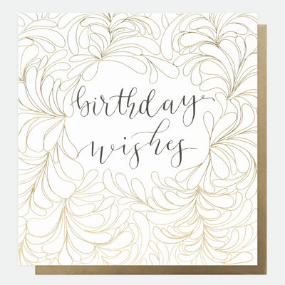 gold-calligraphy-wishes-large-birthday-card-reb005-Single Cards-1