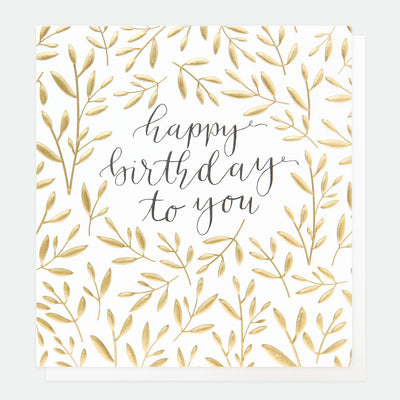 gold-leaves-calligraphy-birthday-card-ref004-Single Cards-1