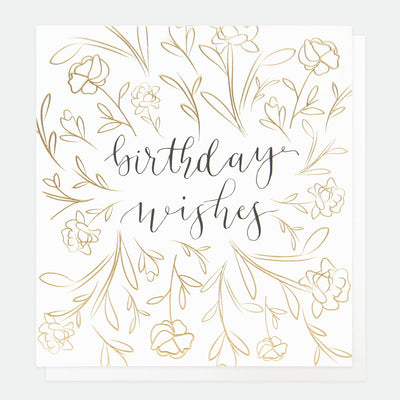 gold-calligraphy-wishes-birthday-card-ref012-Single Cards-1