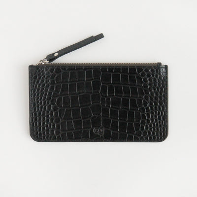 black-croc-leather-zip-top-purse-da6187-Purses and Pouches-1