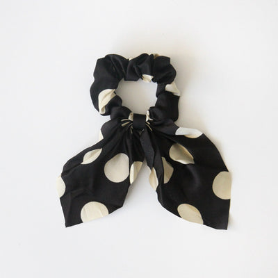 black-white-polka-dot-hair-scrunchie-da6079-Hair Accessories-1