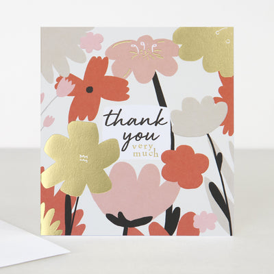 red-pink-flower-thank-you-card-blm001-Single Cards-1