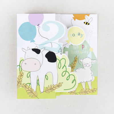 fold-out-animal-2nd-birthday-card-zig003-Single Cards-1