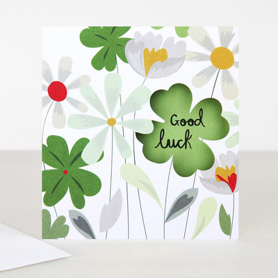 clover-cut-out-good-luck-card-lun019-Single Cards-1