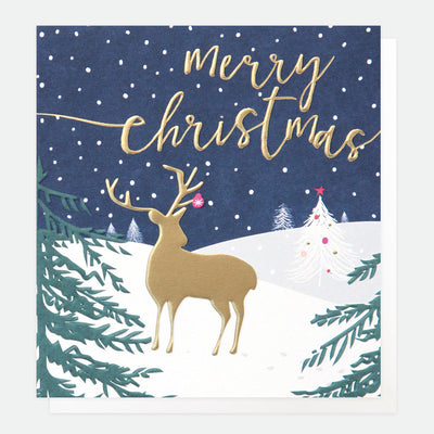 gold-deer-at-night-charity-christmas-card-pack-pnt547-Card Packs-1
