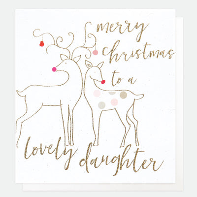 luxury-single-christmas-card-for-daughter-lcx026-Single Cards-1