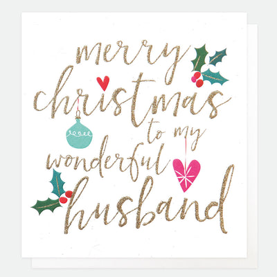 luxury-single-christmas-card-for-husband-lcx027-Single Cards-1