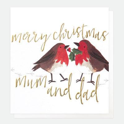 robins-christmas-card-for-mum-dad-qux008-Single Cards-1