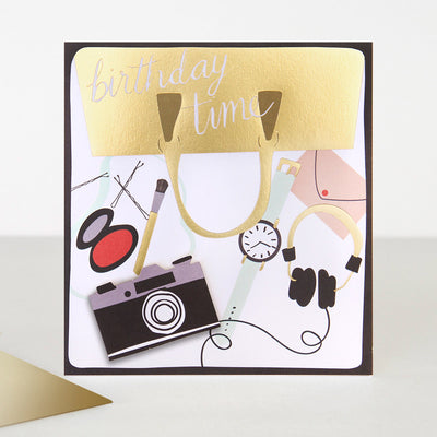 3d-handbag-camera-birthday-card-cin008-Single Cards-1