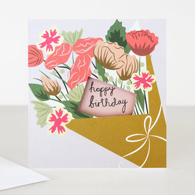 flower-bunch-cut-out-birthday-card-lun001-Single Cards-1