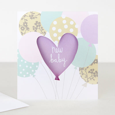 lilac-cut-out-new-baby-card-lun008-Single Cards-1
