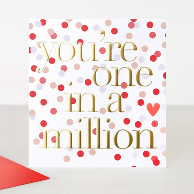 patterned-one-in-a-million-valentines-card-chn024-Single Cards-1