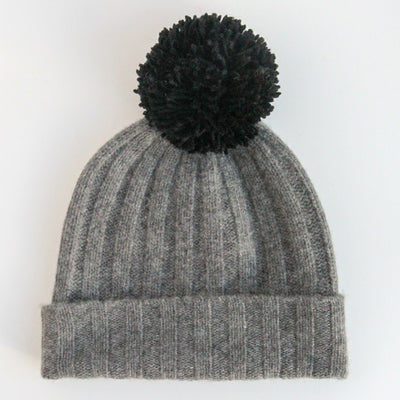 dark-grey-cashmere-bobble-hat-with-wool-pom-da6323-Hats-1