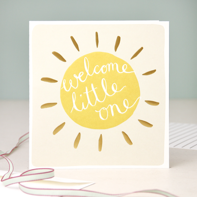 welcome-little-one-sun-new-baby-card-mod020-Single Cards-1