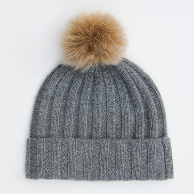 dark-grey-cashmere-bobble-hat-with-faux-pom-da4956-Hats-1