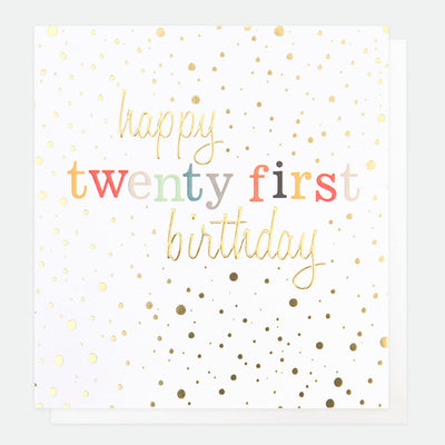 gold-confetti-21st-birthday-card-con019-Single Cards-1