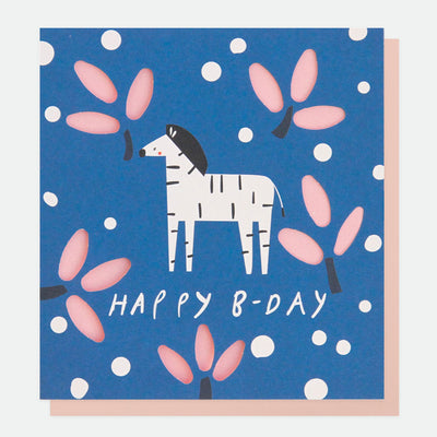 cut-out-zebra-birthday-card-cut003-Single Cards-1