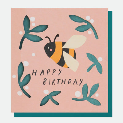 cut-out-bumble-bee-birthday-card-cut012-Single Cards-1