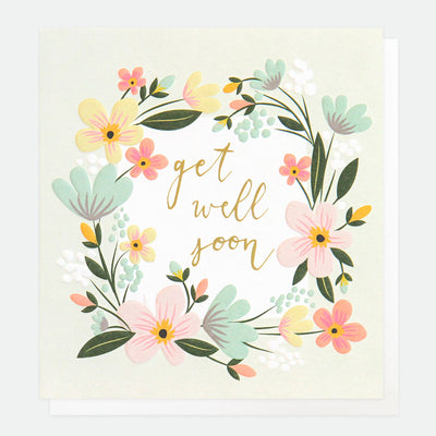 floral-garland-get-well-soon-card-gld017-Single Cards-1