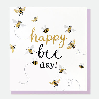 happy-bee-day-birthday-card-gol001-Single Cards-1