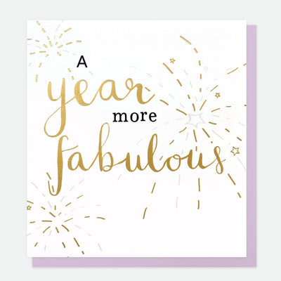 year-more-fabulous-birthday-card-gol004-Single Cards-1