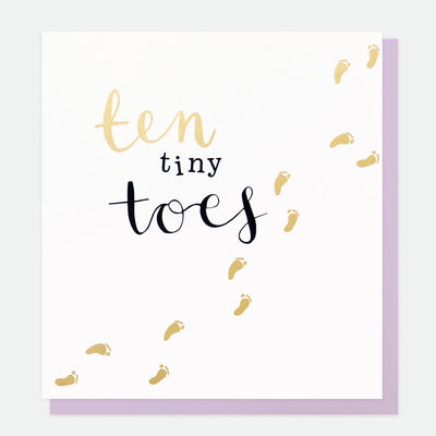 ten-tiny-toes-new-baby-card-gol009-Single Cards-1