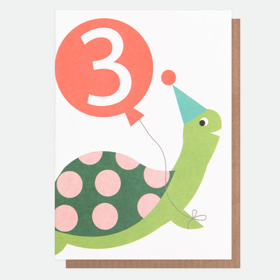 tortoise-3rd-birthday-card-neo030-Single Cards-1