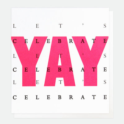neon-pink-yay-lets-celebrate-birthday-card-ovr007-Single Cards-1
