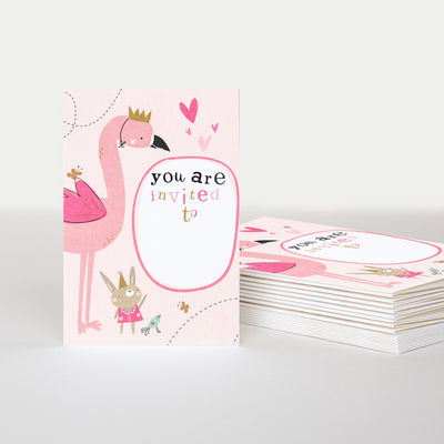 flamingo-party-invitations-pack-of-10-pqi001-Card Packs-1