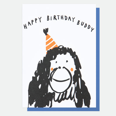 neon-orangutan-buddy-birthday-card-scr007-Single Cards-1