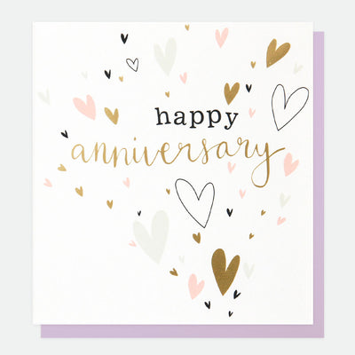 pink-gold-hearts-anniversary-card-gol020-Single Cards-1