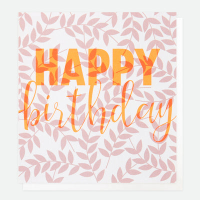 litho-pink-foliage-birthday-card-lho007-Single Cards-1