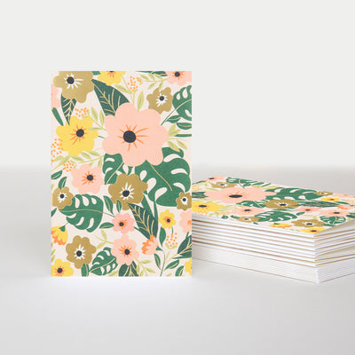 gold-floral-blank-notecards-pack-of-10-pql008-Card Packs-1