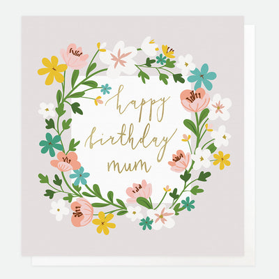floral-garland-happy-birthday-card-for-mum-gld016-Single Cards-1