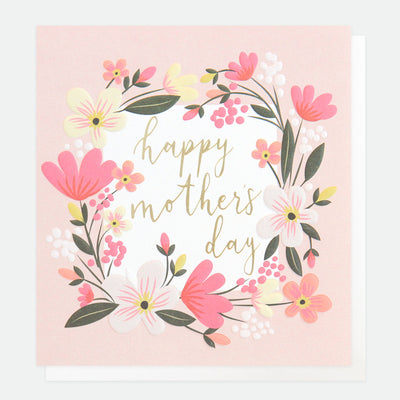 floral-garland-mothers-day-card-gld013-Single Cards-1