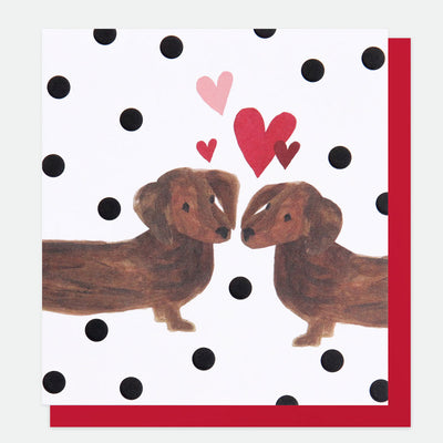 painted-sausage-dogs-valentines-card-pai017-Single Cards-1