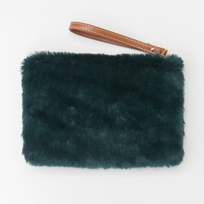 green-faux-fur-pouch-frc102-Purses and Pouches-1