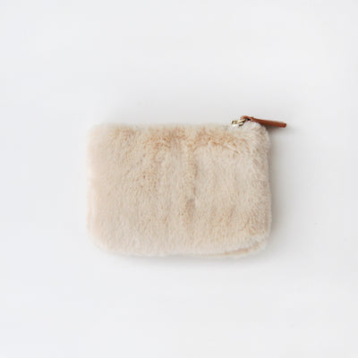 beige-faux-fur-coin-purse-frp103-Purses and Pouches-1