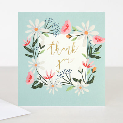 floral-garland-thank-you-card-gld007-Single Cards-1