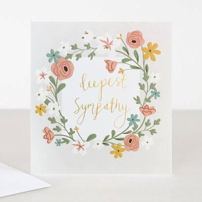 floral-garland-sympathy-card-gld010-Single Cards-1