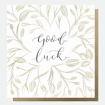 gold-calligraphy-large-good-luck-card-reb009-Single Cards-1