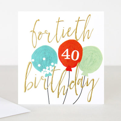 balloons-40th-birthday-card-qui033-Single Cards-1