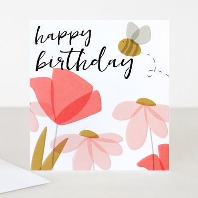screen-print-flowers-bee-birthday-card-spt012-Single Cards-1