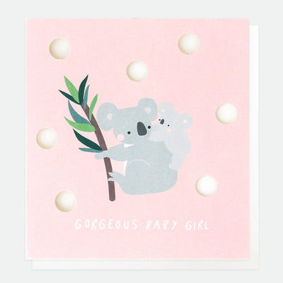 cut-out-koala-new-baby-girl-card-cut013-Single Cards-1