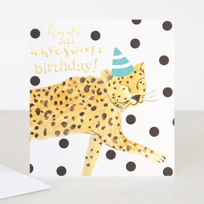 painted-cheetah-birthday-card-pai009-Single Cards-1