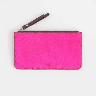 bright-pink-pony-skin-leather-zip-top-purse-da6186-Purses and Pouches-1