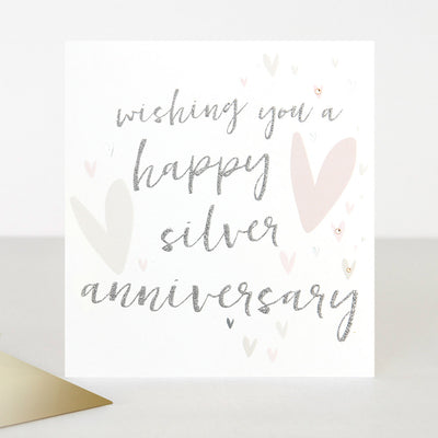 luxury-embellished-silver-anniversary-card-ptr026-Single Cards-1